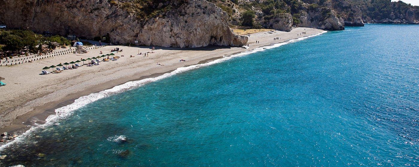 naken på strand