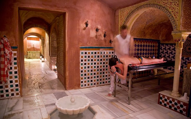 Baño Arabe En Granada:Al-Andalus Hammam Granada