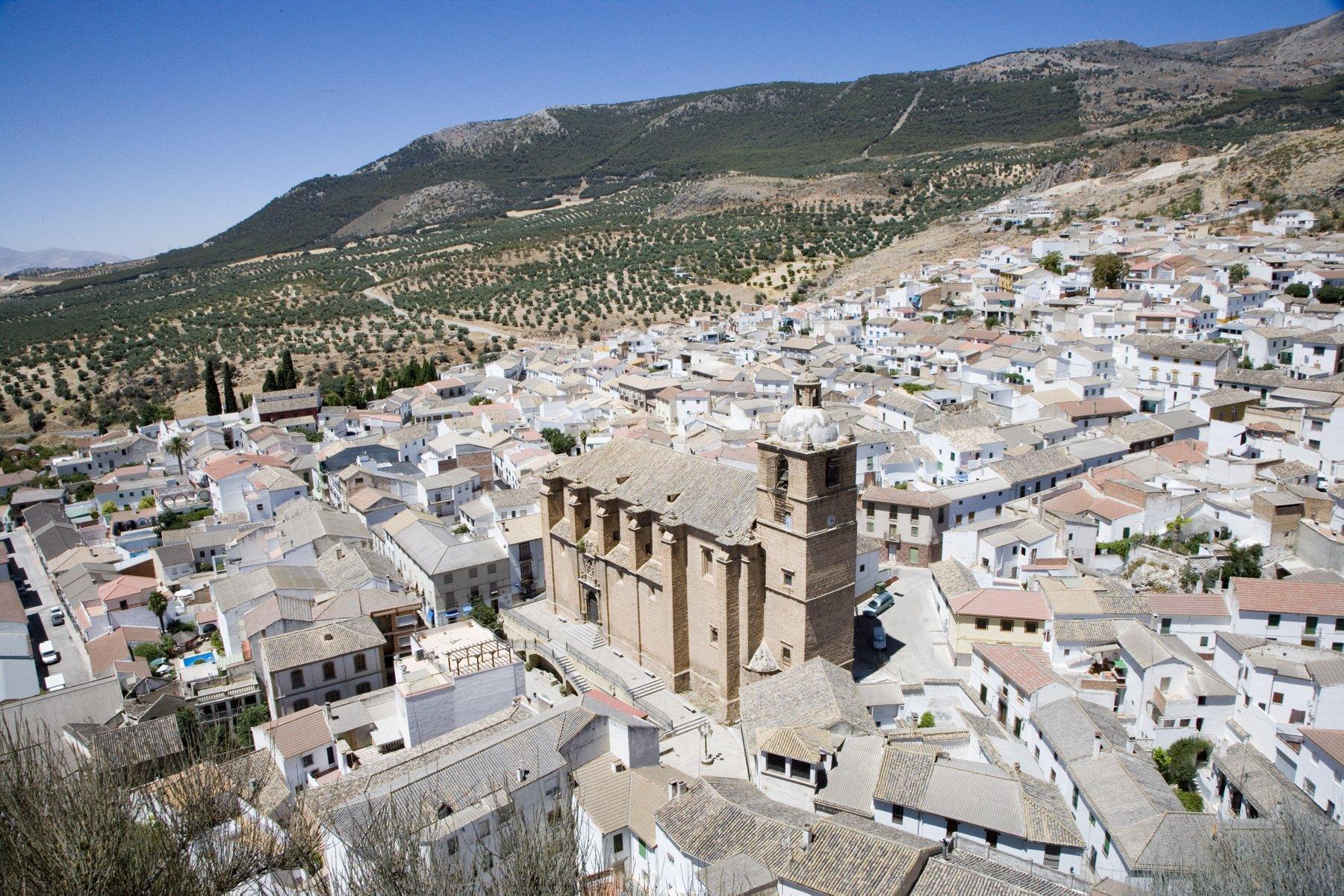 _U4T5149 Vista  parcial de Illora desde el Castillo.Illora. Granada.