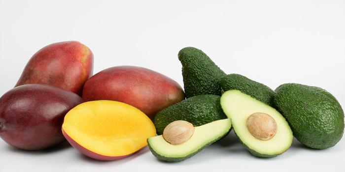 Fruta tropicales y quisquillas de Motril